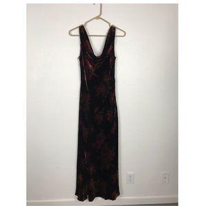 Lauren Ralph Lauren Floral Velvet Dress